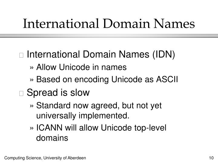 International Domain Names