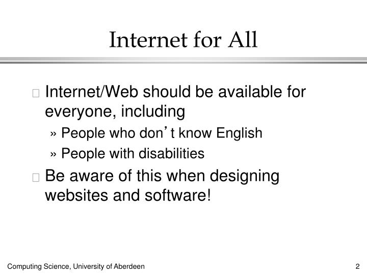 Internet for all1