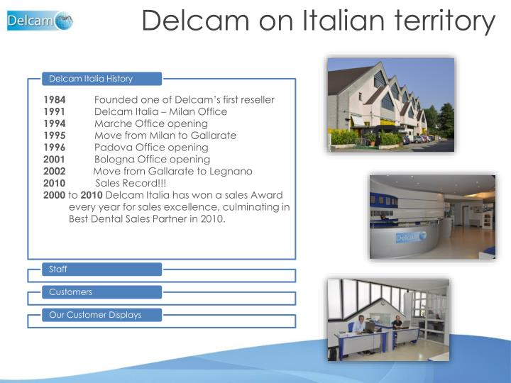 Delcam on Italian territory