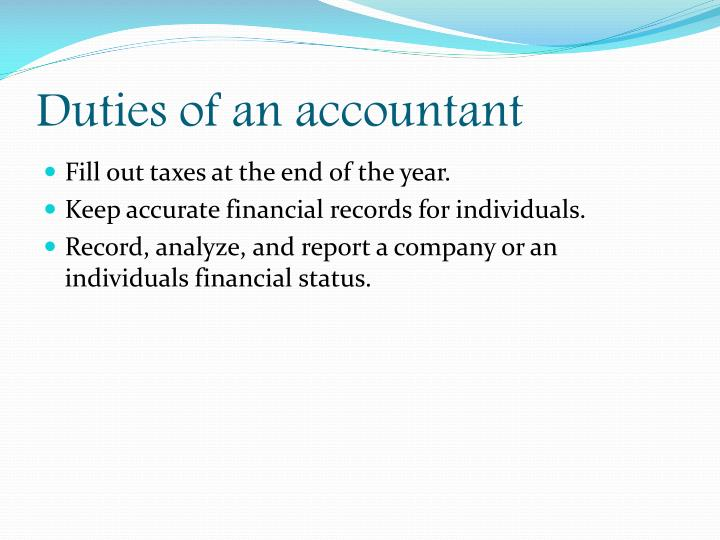 Duties of an accountant