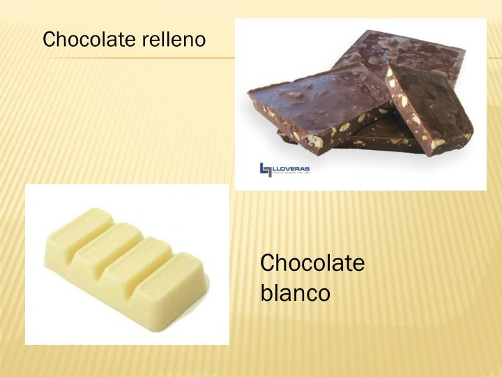 Chocolate relleno