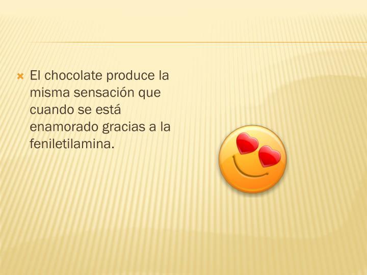 El chocolate produce la misma sensación que cuando se está enamorado gracias a la