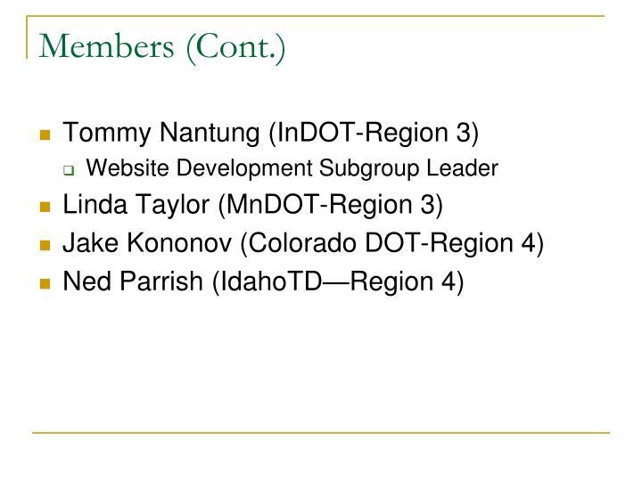 Members (Cont.)