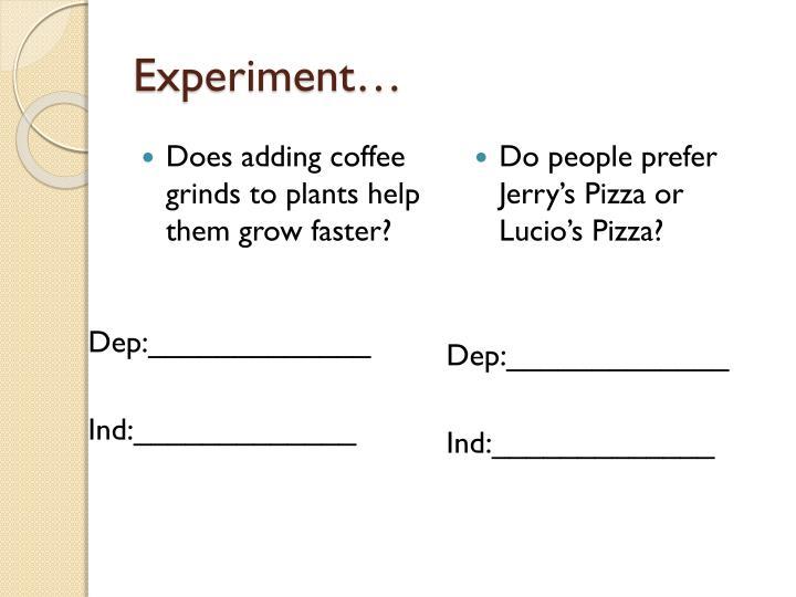 Experiment…