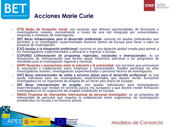 Acciones Marie Curie