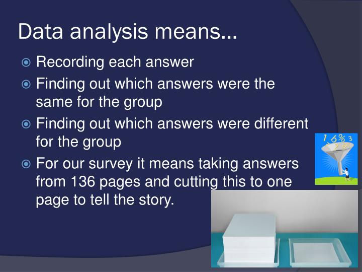 Data analysis means…