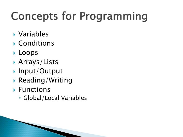 Concepts for Programming