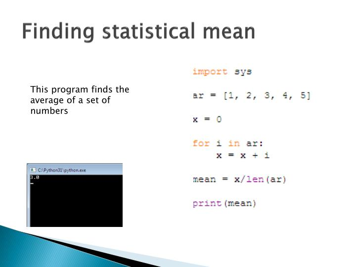Finding statistical mean