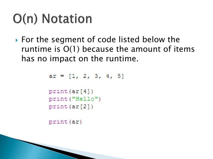 O(n) Notation