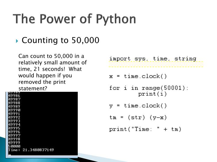 The Power of Python