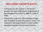 declining growth rate