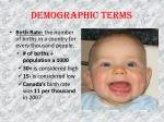 demographic terms