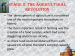 stage 2 the agricultural revolution