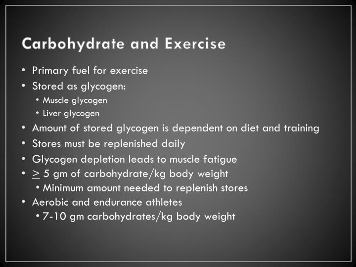 Carbohydrate and Exercise