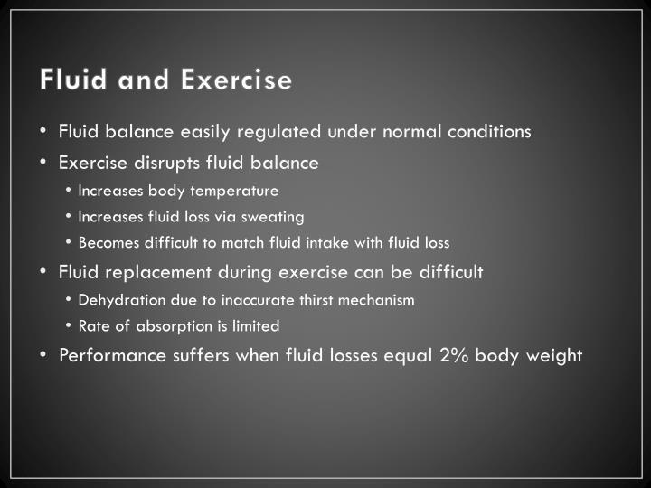 Fluid and Exercise