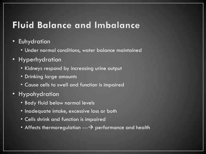 Fluid Balance and Imbalance