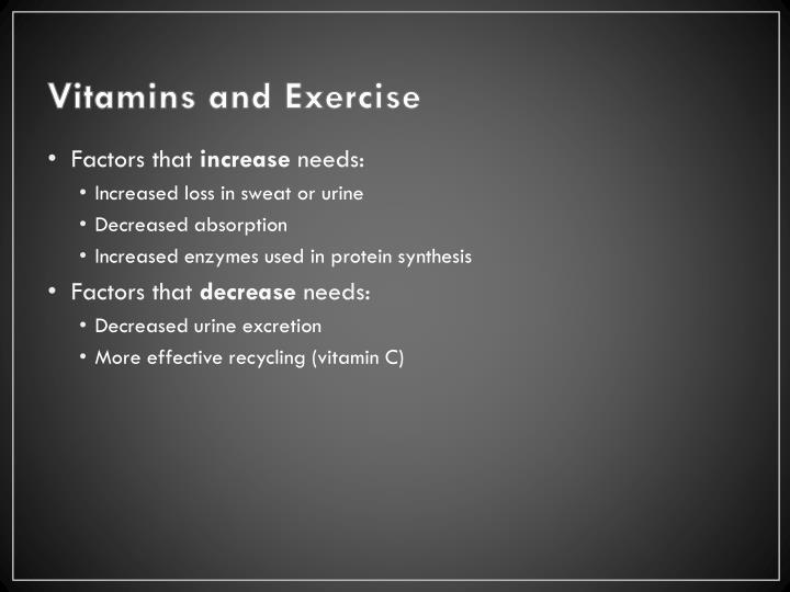 Vitamins and Exercise