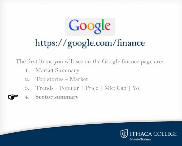 https://google.com/finance