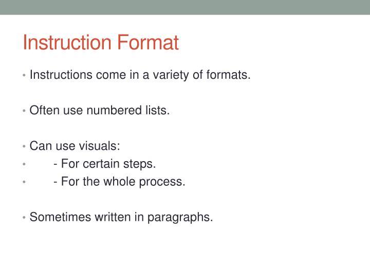 Instruction Format