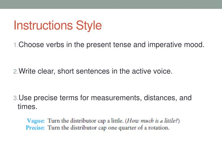 Instructions Style