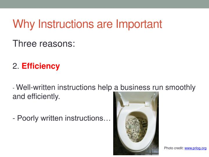 Why Instructions are Important