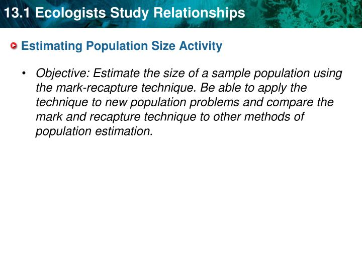 Estimating Population
