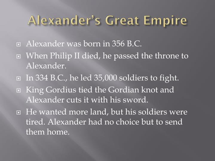 Alexander's Great Empire
