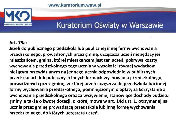 Art. 79a: