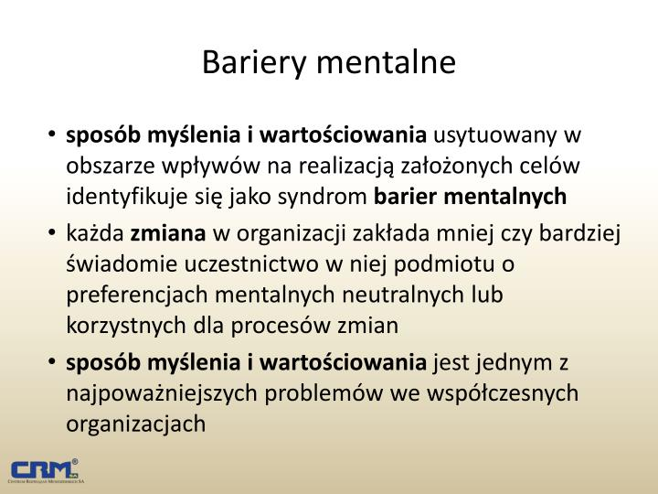 Bariery mentalne