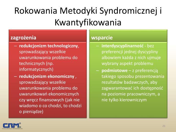 Rokowania Metodyki Syndromicznej i Kwantyfikowania