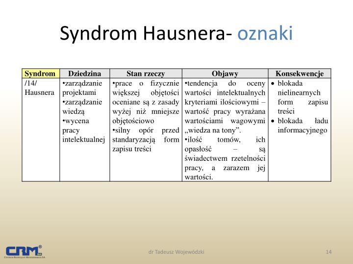 Syndrom Hausnera-