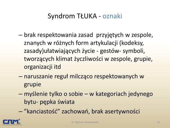 Syndrom TŁUKA -