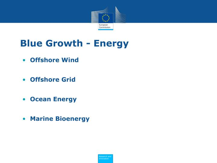 Blue Growth - Energy