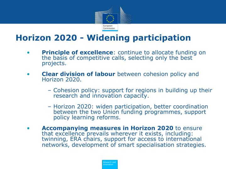 Horizon 2020 - Widening participation