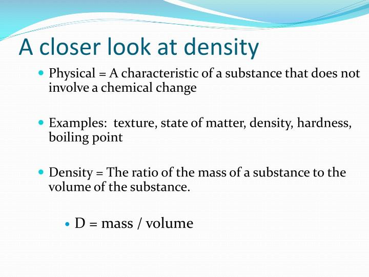A closer look at density