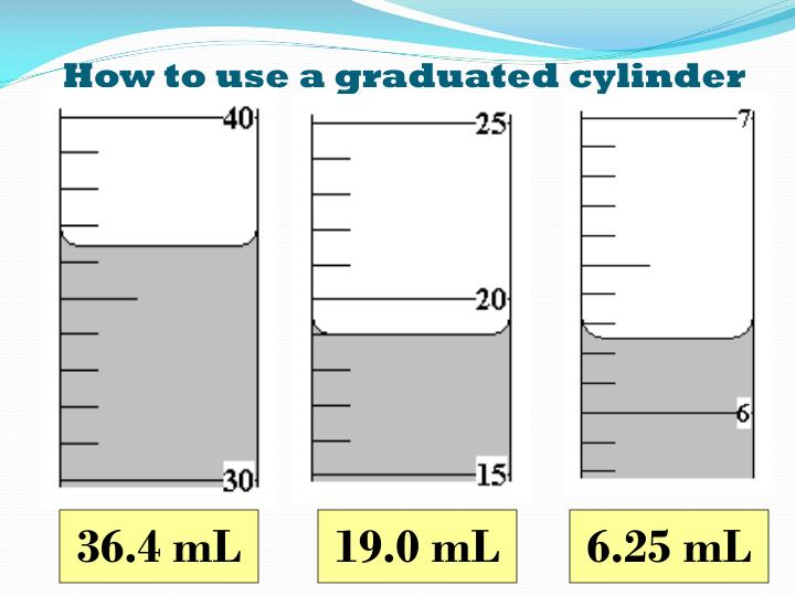 How to use a graduated cylinder