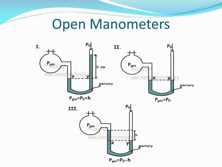 Open Manometers