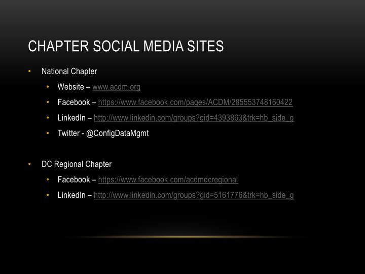 Chapter Social media Sites