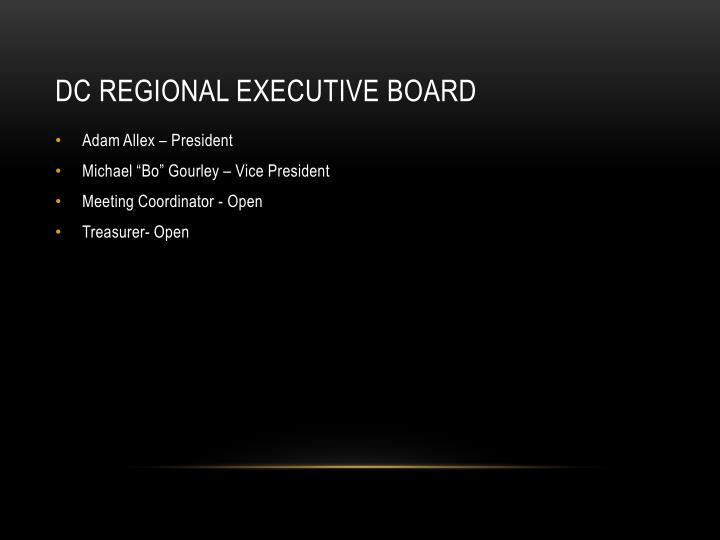 DC Regional Executive Board