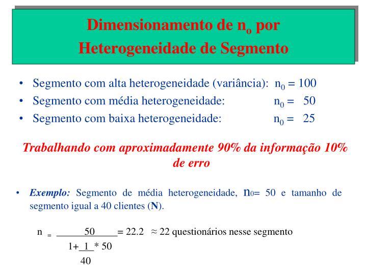 Dimensionamento de n