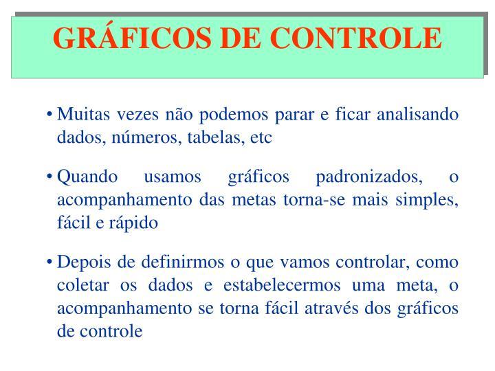 GRÁFICOS DE CONTROLE