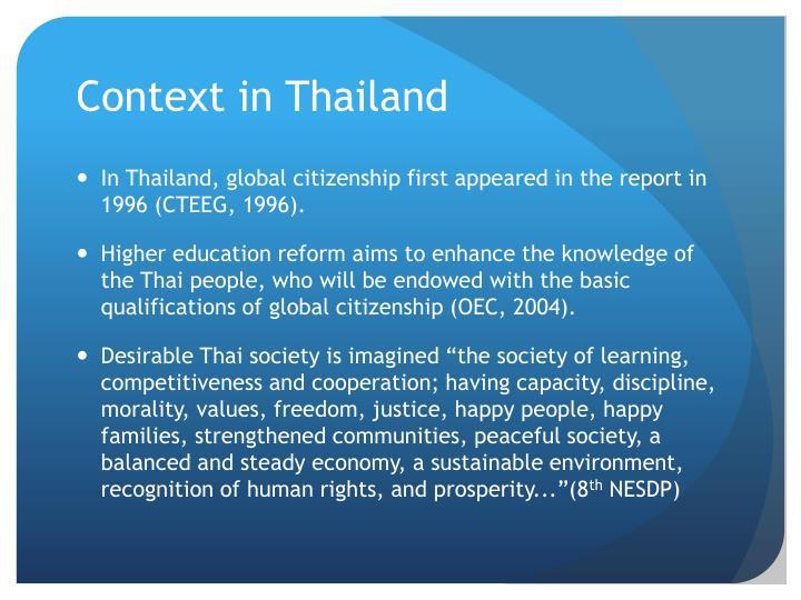 Context in Thailand