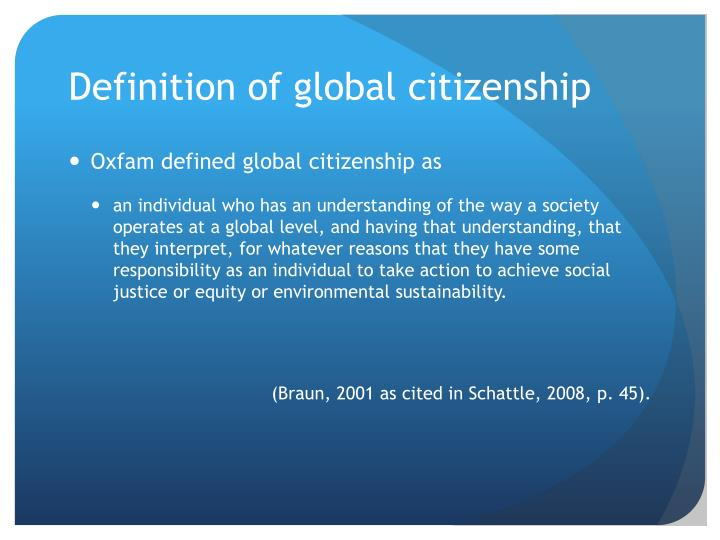 Definition of global citizenship