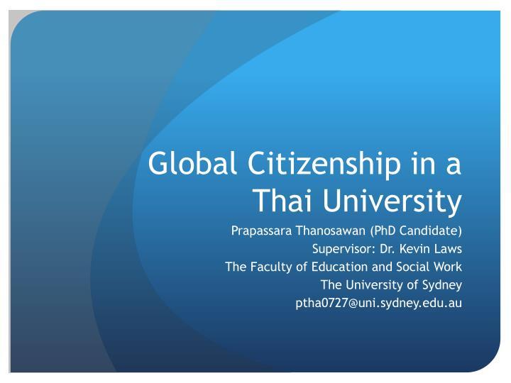 Global Citizenship in a Thai University