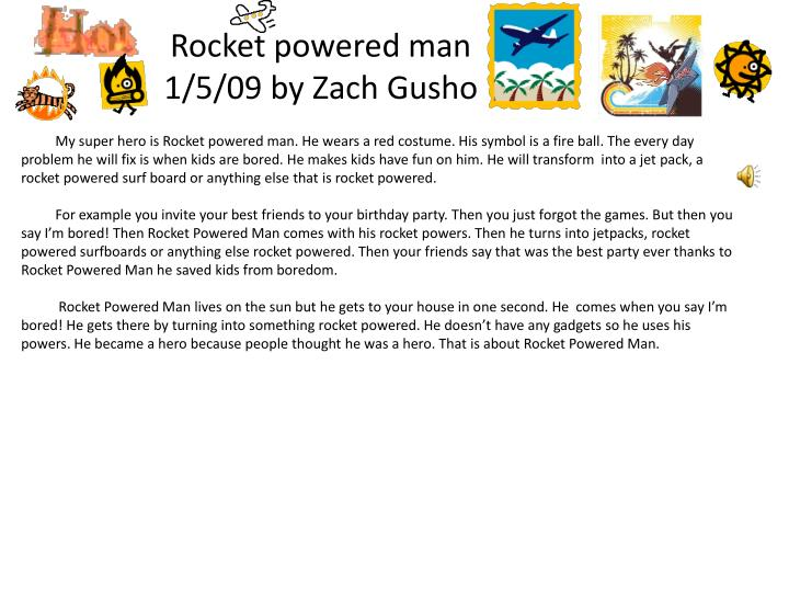 Rocket powered man
