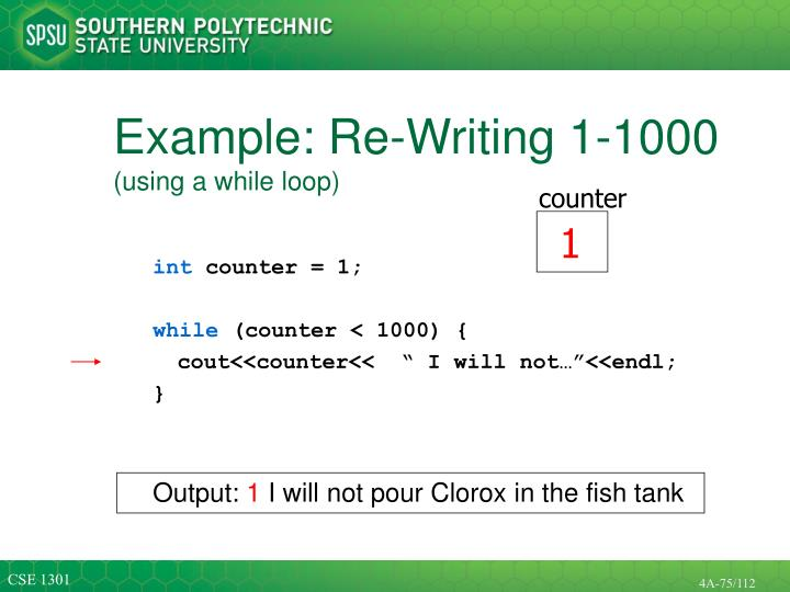 Example: Re-Writing 1-1000