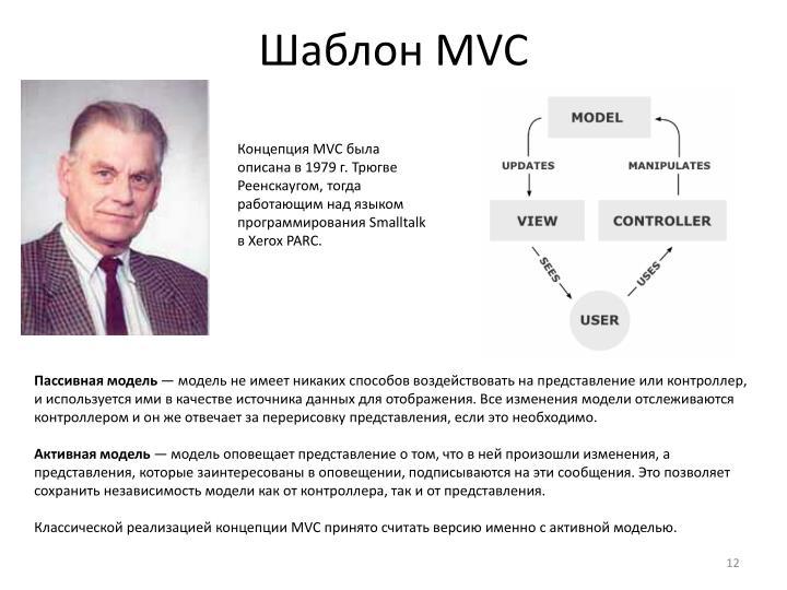 Шаблон MVC