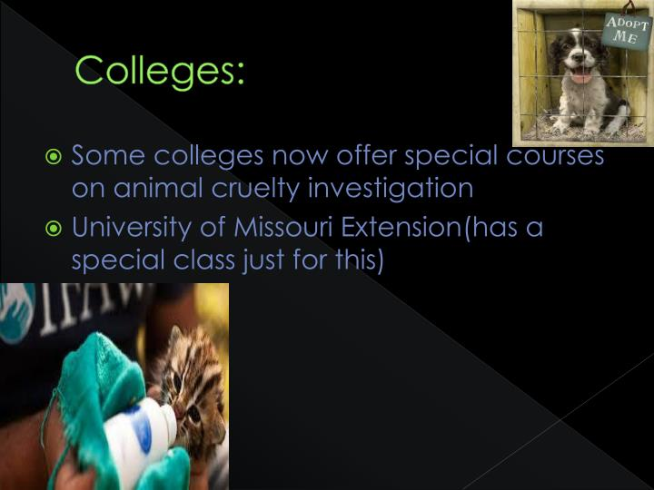 Colleges: