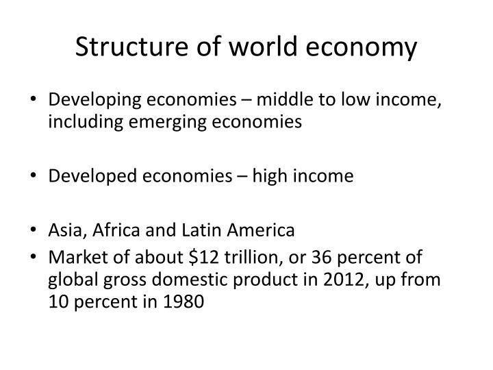 Structure of world economy