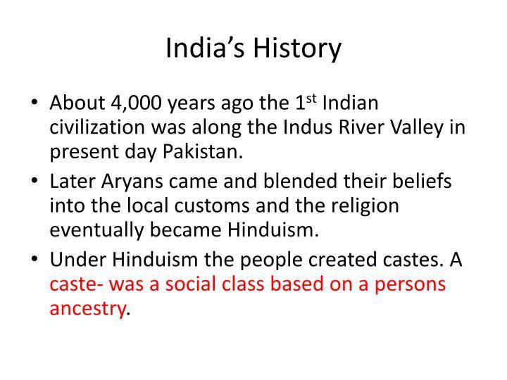 India's History